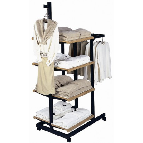 Designer 402 Shelving Unit with U-Hangrail