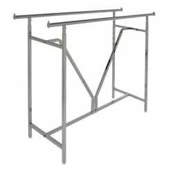 "Heavy Duty ""V"" Construction Double Bar Rack"