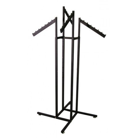 Textured Black 4-Way Rack w/Slant Arms