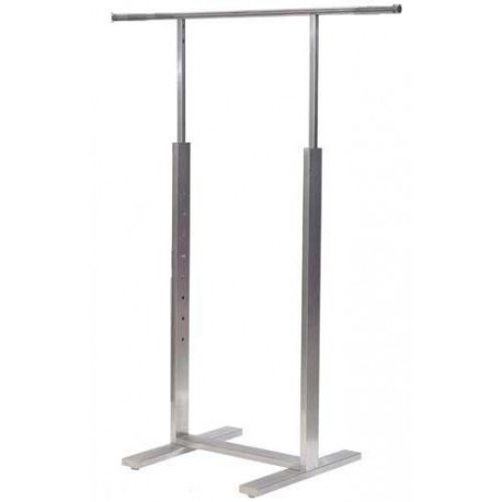 "Satin Chrome Ballet Bar Rack 48""L"