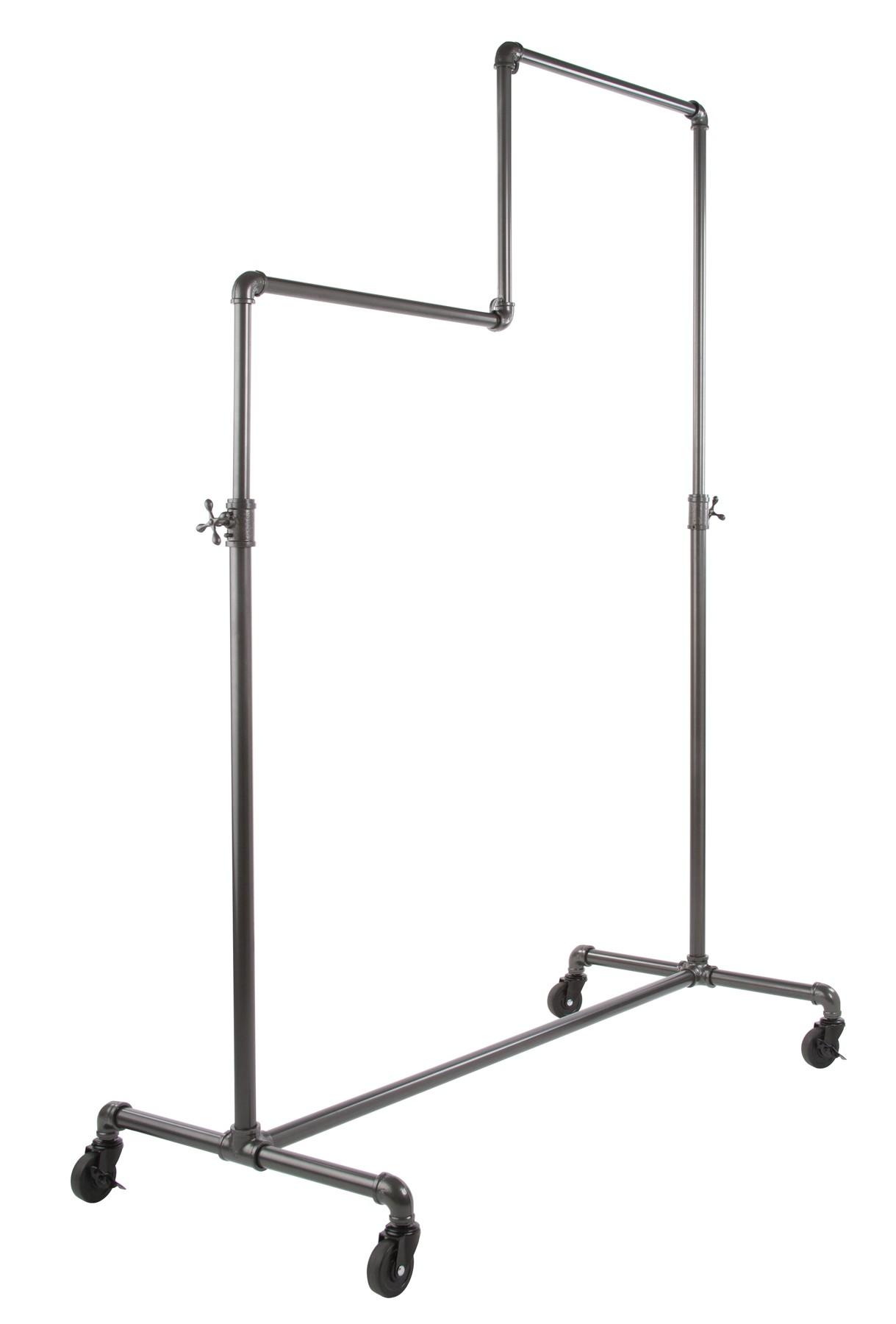 pipe hanging rack hanger original ideas of black clothing
