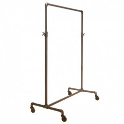 Adjustable Single Bar Pipe Clothing Rack
