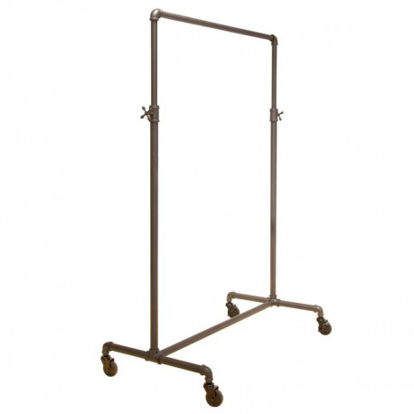 Adjustable Single Bar Pipe Clothing Rack