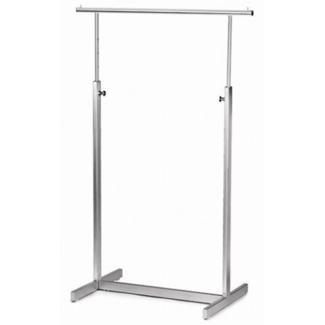 "Satin Chrome Ballet Bar Rack 42""L"