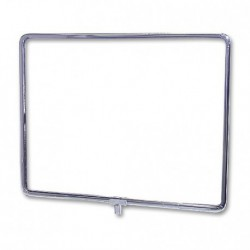 "Horizontal Chrome Sign Frame 11"" x 14"""