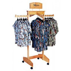 Four Way Wooden Clothing Rack