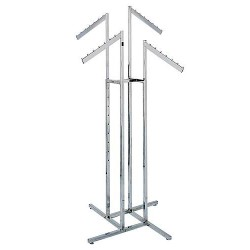 4-Way Racks With 4 Slant Rectangular Arms