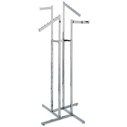 4-Way Racks With 2 Straight & 2 Slant Rectangular Arms