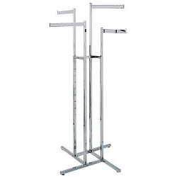 4-Way Racks w/ 4 Straight Rectangular Arms