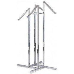 4-Way Racks With 4 Slant Square Arms