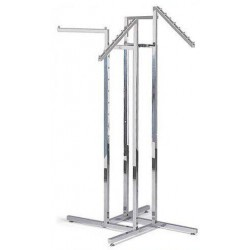 4-Way Racks With 2 Straight and 2 Slant Square Arms